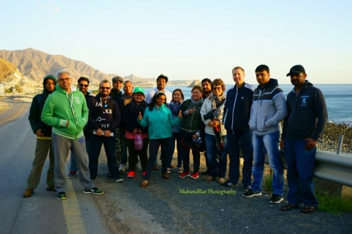 Group Photo at Al Aqah Beach