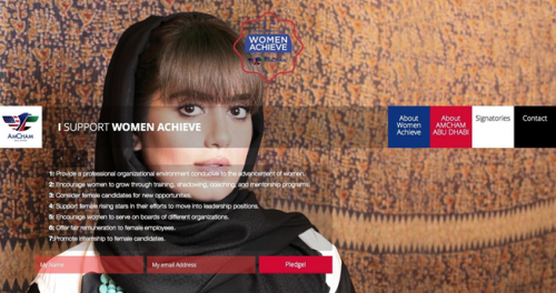 AmCham Women Achieve Pledge Website