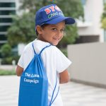 The Lama Campaign's Giveaway bags to children (Ali is one of our Campaign Leaders)